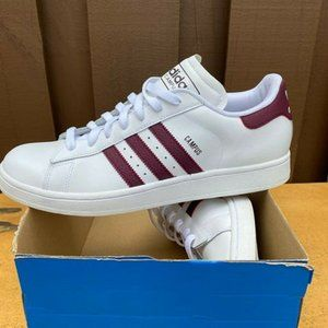 Adidas Campus Mens Burgundy Sneakers Shoes Sz 11.5